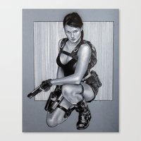 lara croft Canvas Prints featuring Tomb rider lara croft by calibos
