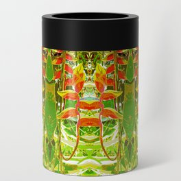 Heliconia Red Claws Pattern Can Cooler