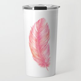 Flamingo Feather | Tropical Bird Travel Mug