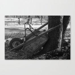 Wheel barrow photo Canvas Print