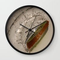 kiwi Wall Clocks featuring kiwi by Helenehoie