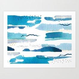 Creative watercolor print Art Print