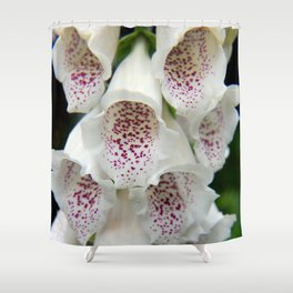 White Foxgloves - Garden Photography Shower Curtain