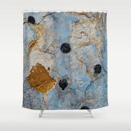 Polka dot graffiti wall abstract Shower Curtain