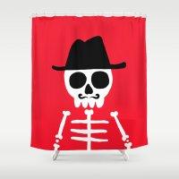 skeletor Shower Curtains featuring El Skeletor by David Allart