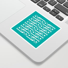 'The Con Artist' - Green Converse Pattern Sticker