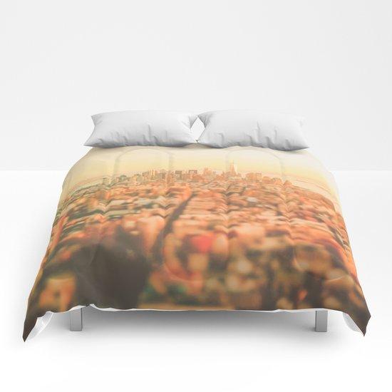 New York City Sunset Comforters
