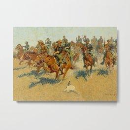 "Frederic Remington Western Art ""On the Southern Plains"" Metal Print"
