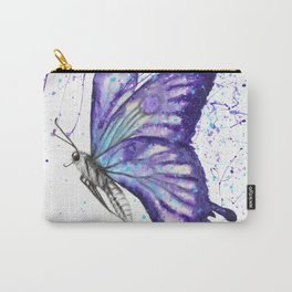 Lavender Butterfly Carry-All Pouch