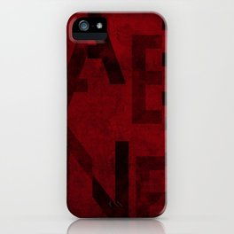 Cabernet Wine Typography iPhone Case