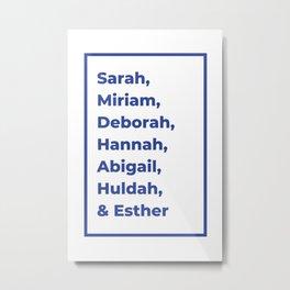 Jewish Female Prophets - Biblical Prophetesses Metal Print