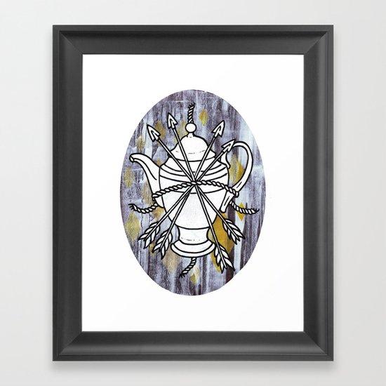 Four Arrows Framed Art Print
