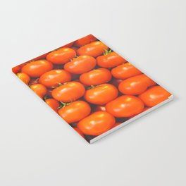 Mid century tomatoes from Italy market Notebook