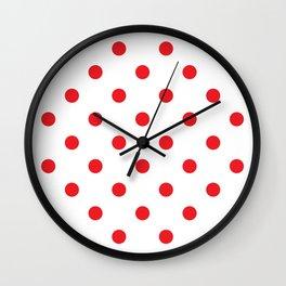 Polka dot fabric Retro vector background or pattern Wall Clock