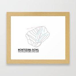 Arapahoe Basin, CO - Montezuma Bowl - Minimalist Trail Map Framed Art Print