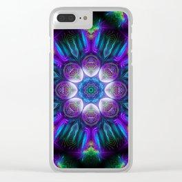 Neon Mandala 2 Clear iPhone Case