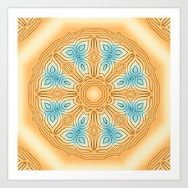 Sea Beach Summer Kaleidoscope Abstract Pattern Art Print