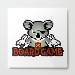 koala playing dice Metal Print
