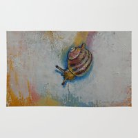 snail Area & Throw Rugs featuring Snail by Michael Creese