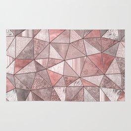 Soft Pink Glamour Gemstone Triangles Rug