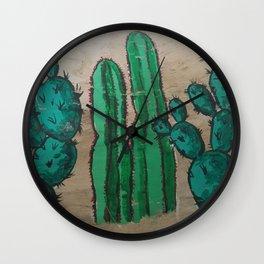 Cactus Lineup Wall Clock