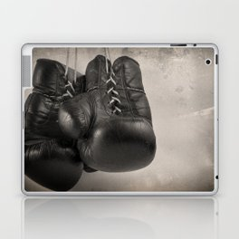 Boxing Gloves black and white Laptop & iPad Skin