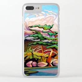 Juniper Islet by Amanda Martinson Clear iPhone Case