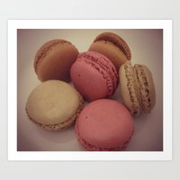 macaroon Art Prints featuring macaroon by  Alexia Miles photography