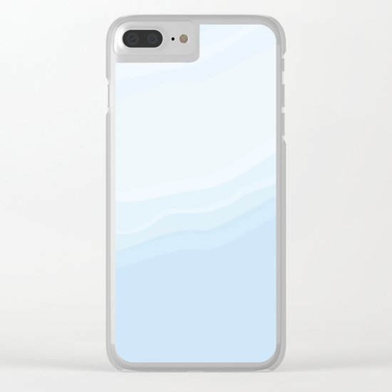 Souffle , blue Clear iPhone Case