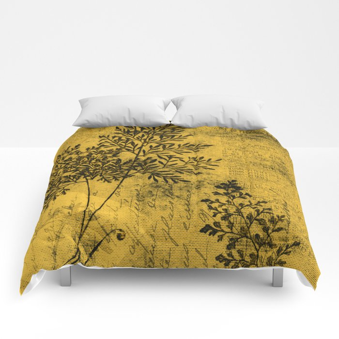 French Botanical - Gold Comforters