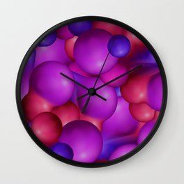 pattern with futuristic balls Wall Clock