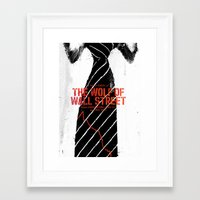 wolf of wall street Framed Art Prints featuring The Wolf of Wall Street by Dan K Norris
