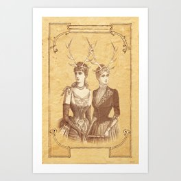 Sisters Emmaline And Cornelia Always Wore The Biggest Hats Art Print