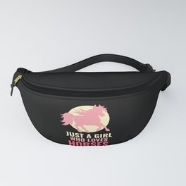 Just A Girl Who Loves Horses Fanny Pack