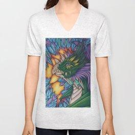Forest Dragon Unisex V-Neck
