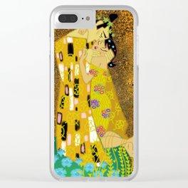The Samurai Kiss Clear iPhone Case