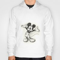 mickey Hoodies featuring Mickey Mouse by Herself