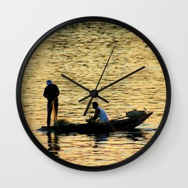 End of the Days Fishing Wall Clock