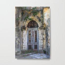Derelict Doorway Metal Print