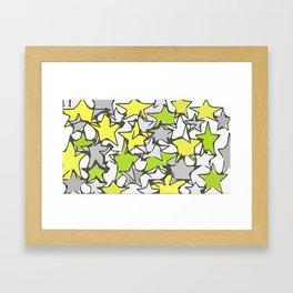 yellow stars Framed Art Print