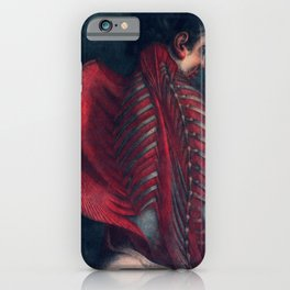 Anatomy art BACK RIB MUSCLE dark art, gothic home decor, gothic decor, gothic wall decor, medical iPhone Case