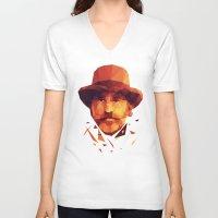 dentist V-neck T-shirts featuring dr. King Schultz by Dr.Söd
