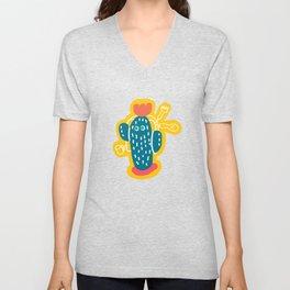 Walking Cactus Unisex V-Neck