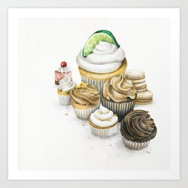 Sweet Energy Cupcakes Art Print