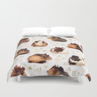 guinea pig Duvet Covers featuring The Essential Guinea Pig by micklyn