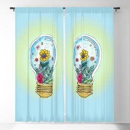 Watercolor Magic Plant Bulb Blackout Curtain