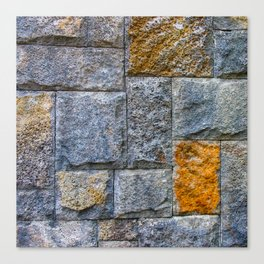 stones-wall Canvas Print