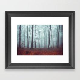 Forest Magic - Foggy Forest Scene Framed Art Print
