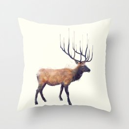 Elk // Reflect (Right) Throw Pillow