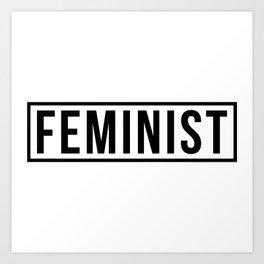 Feminist White Art Print
